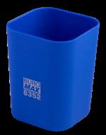 #@$Стакан пластиковый для канц. принадлежностей, RUBBER TOUCH , синий