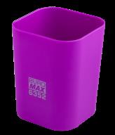 #@$Стакан пластиковый для канц. принадлежностей, RUBBER TOUCH , фиолетовый