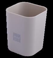 @$Стакан пластиковый для канц. принадлежностей, RUBBER TOUCH , серый
