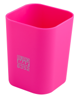 #@$Стакан пластиковый для канц. принадлежностей, RUBBER TOUCH , розовый