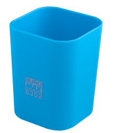 @$Стакан пластиковый для канц. принадлежностей, RUBBER TOUCH , голубой