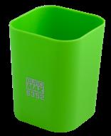 @$Стакан пластиковый для канц. принадлежностей, RUBBER TOUCH , светло-зеленый
