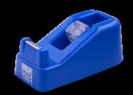 Диспенсер для канцелярского скотча (ширина до 18 мм), 122x60x50 мм, пластиковый, синий