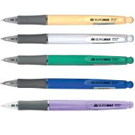 ^Ручка шариковая автоматическая SOLID, 0,7 мм, пласт.корпус, рез.грип, синие чернила
