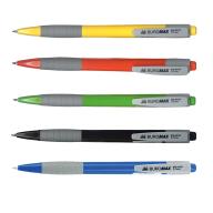 ^Ручка шариковая автоматическая FRESH, 0,7 мм, пласт.корпус, рез.грип, синие чернила
