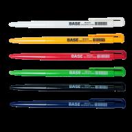 ^$Ручка шариковая автоматическая BASE, JOBMAX, 0,7 мм, пласт.корпус, синие чернила