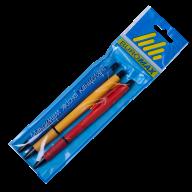 @$Набор из 3х шариковых автоматических ручек 0,7 мм, ассорти корпусов в блистере
