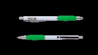 @$Ручка шариковая автоматическая COLOR GRIP, 0,7 мм, зеленый грип, синие чернила