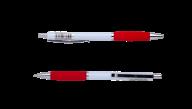 @$Ручка шариковая автоматическая COLOR GRIP, 0,7 мм, красный грип, синие чернила