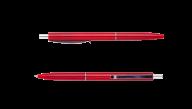 ^Ручка шарик.автомат.COLOR, L2U, 1 мм, красный корпус, синие чернила