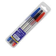 "Набор из 3-х шариковых ручек CLASSIC  (тип ""корвина""), 0,7 мм, пласт. корпус, 3 цвета чернил"