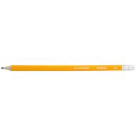 Карандаш графитовый CLASSIC, HB, с ластиком, желтый корпус, туба 100 шт.