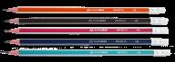 Карандаш графитовый SILVER, НВ, с ластиком, трехгранный, ассорти, с серебрянной полоской, карт. кор