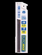Стержни для механических карандашей, 2B, 0.5 мм, 12 шт.