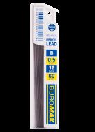 Стержни для механических карандашей, B, 0.5 мм, 12 шт.
