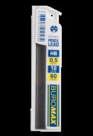 Стержни для механического карандаша, HB, 0,5 мм, 12 шт.