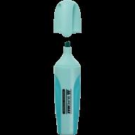 Текст-маркер PASTEL, бирюз., 2-4 мм, с рез. вставками