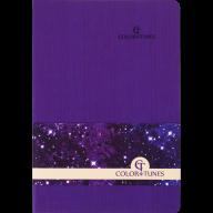 Блокнот деловой COLOR TUNES, А5, 96 л., нелинов., фиолетовый, иск.кожа