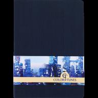 Блокнот деловой COLOR TUNES, А5, 96 л., нелинов., т.-синий, иск.кожа