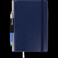 Блокнот деловой CODE, L2U, А5, 96 л., нелинов, т.-синий, иск.кожа