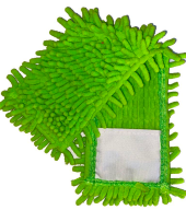 """/Насадка сменная из микрофибры шиньон """"1000 пальцев"""", зеленая"""