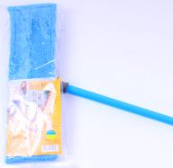 /Швабра для влажной уборки, микрофибра, 42 см, синяя