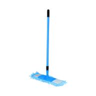"""/Швабра для уборки телескопическая, микрофибра """"1000 пальцев"""", 44 см, синяя"""