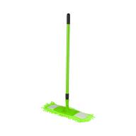 """/Швабра для уборки телескопическая, микрофибра """"1000 пальцев"""", 44 см, зеленая"""