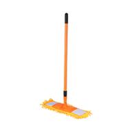 """/Швабра для уборки телескопическая, микрофибра """"1000 пальцев"""", 44 см, оранжевая"""
