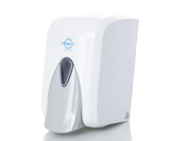 /Дозатор для мыла-пены, 0,5 л, кнопочный, белый Solaris