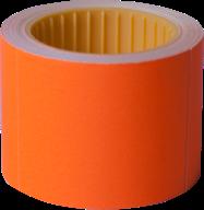 Ценник 50x40 мм, (100 шт, 4 м),  прямоугольный, внешняя намотка, оранжевый