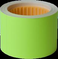 Ценник 50x40 мм,  (100 шт, 4 м),  прямоугольный, внешняя намотка, желтый