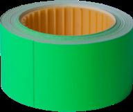 Ценник 30x40 мм, (150 шт, 4.5 м),  прямоугольный, внешняя намотка, зеленый