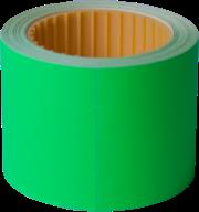 Ценник 50x40 мм,  (100 шт, 4 м),  прямоугольный, внешняя намотка, зеленый