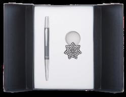 """@$Набор подарочный """"Star"""": ручка шариковая + брелок, черный"""