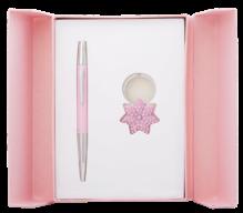 """@$Набор подарочный """"Star"""": ручка шариковая + брелок, розовый"""