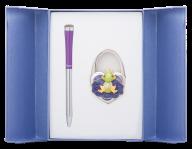 """@$Набор подарочный """"Fairy Tale"""": ручка шариковая + крючек д/ сумки, фиолетовый"""