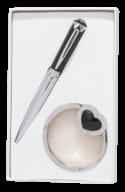 """@$Набор подарочный """"Crystal"""": ручка шариковая + крючек д/ сумки, черный"""
