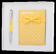 """Набор подарочный """"Monro"""": ручка шариковая + зеркало, желтый"""