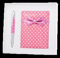 """@$Набор подарочный """"Monro"""": ручка шариковая + зеркало, розовый"""