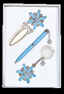 """Набор подарочный """"Star"""": ручка шариковая + брелок + закладка, синий"""