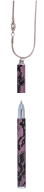"""@$Ручка шариковая """"Lace"""" с цепочкой 70см, розовый, в подарочном футляре"""