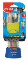 Карандаши цветные COLOR PEPS Flex Box, 12 цв., + раздвижной пенал, ассорти
