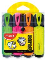 Текст-маркер FLUO PEPS Classic, набор 4 шт., блистер, ассорти