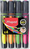 Текст-маркер FLUO PEPS Max, набор 4 шт., блистер, ассорти