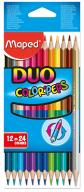 Карандаши цветные COLOR PEPS Duo, двусторонние 12шт./24 цв.