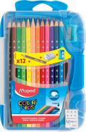 Карандаши цветные COLOR PEPS Smart Box, 12 цв. + 3 изделия, пластик. футляр с подвесом, ассорти