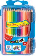 @$Карандаши цветные COLOR PEPS Smart Box, 15 цв., пластик. футляр с подвесом, ассорти