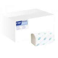 """/Полотенца бумажные целлюлозные V-образные """"BASIC"""", 2-х сл., 160 листов, белый TISCHA PAPIER"""