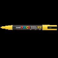 Маркер uni POSCA 0.9-1.3мм, желтый